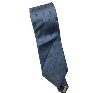 Tommy Bahama Men's Blue Island Palm Tree Neck Tie